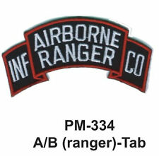 "3""  A/B (RANGER)-TAB Embroidered Military Patch"