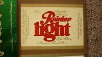 OLD USA AMERICAN BEER LABEL, SICKS RAINIER BREWING SEATTLE, RAINIER LIGHT 11 Oz