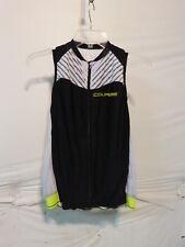 Louis Garneau Women's Course 2 Sleeveless Jersey Medium Black/Bright Yellow