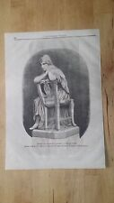1872 Esposizione Naz. Milano Carlotta Corday Statua in marmo di P. Miglioretti
