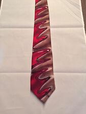 Men's Jerry Garcia Designed Neck Tie, Floating Planes Design, 100% Silk