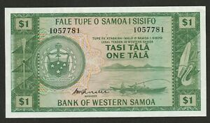 1967 WESTERN SAMOA 1 TALA NOTE UNC