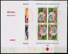TIMBRES GABON  ' CROIX ROUGE 1967 ' BLOC n°6/7 NEUF**