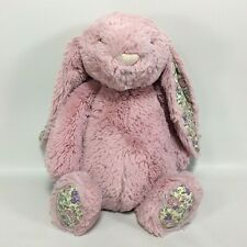 "Jellycat Bashful Blossom Tulip Bunny Pink Floral Print 12"" Rabbit Plush Soft Toy"