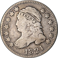 1821 Bust Dime Large Date Choice VG+ Superb Eye Appeal Strong Strike