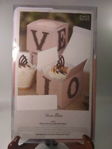 """Favor Boxes For Cupcakes Package Of 25 Rustic Love Cups 3.5""""x3.5""""x3.0"""" weddings"""