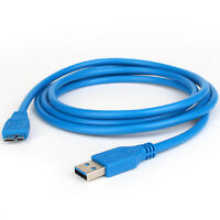 3 /6/10ft Standard USB 3.0 Male Type A to Micro B Cable Blue High Speed 5Gbps