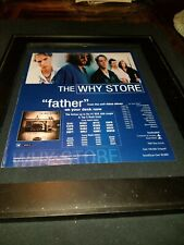 The Why Store Father Rare Original Radio Promo Poster Ad Framed!