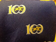 100th PIMLICO PREAKNESS 1975 ~ HORSE RACING ~ MENS TIE ~ BLUE YELLOW GOLD ~ 58""