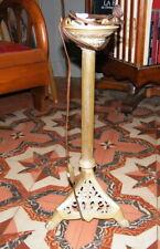 Ancien Pied de lampe tripode pattes Lion d'Eglise électrifiée en bronze 19ème.
