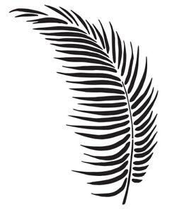 Palm Leaf Stencil, A4/A5 -  Choose a Leaf