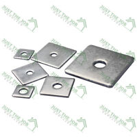 M16-16mm x 50mm x 3mm SQUARE THICK PLATE HEAVY DUTY WASHERS STEEL BZP DIN 436