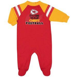 Kansas City Chiefs Baby Toddler Coverall Sleep & Play, NFL Gerber Sleeper