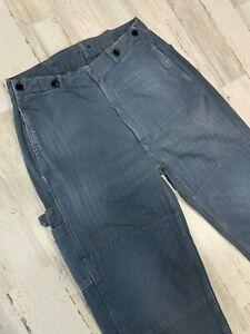 Levis Vintage Clothing LVC Buckle Back Railroad Jeans Pants 31x34 Measured 1930s