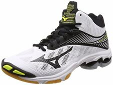 MIZUNO Volleyball Shoes Wave Lightning Z4 MID White Black Yellow US10.5(28.5cm)
