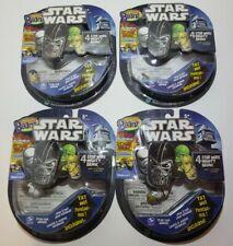 LOT OF FOUR Mighty Beanz Star Wars The Clone Wars Luke Skywalker Han SEALED