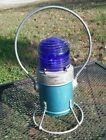 Vintage Star Cobalt Blue Glass Globe Railroad Lantern N&W RY