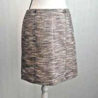 Ann Taylor Loft NWT Women's Short Pencil Skirt Size 8 Tweed Knit Metallic Thread