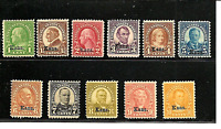 """US """"Kans.""""  Overprints ~ Complete #658-68 Mint-NH Set of 11....Free Shipping!!!"""