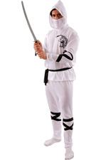Orion Costumes White Ninja Samurai Warrior Martial Arts Fancy Dress Costume