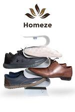 Homeze - White Wall Hanging mounted Vertical Shoe Rack Slipper Storage Organiser