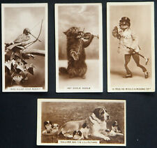 J MILLHOFF  FOUR SCARCE VINTAGE 1933 CIGARETTE CARDS   REAL PHOTOGRAPHS SERIES 5