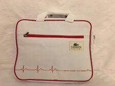 Lacoste Laptop Bag Briefcase Messenger Shoulder Bag White & Red