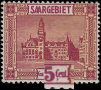 SARRE / SAAR / SAARGEBIET 1923 Mi.100.I PLATTENFEHLER C mit cédille NEUF **