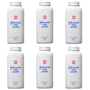 Johnson's Baby Powder 200g Talc Talcum Powder for Delicate Skin  6 x200g