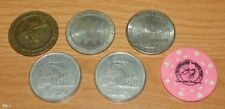 Casino Chips / Tokens - Lot of 7 Chips, Coins / $1.00 Tokens