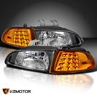 Fits Honda 1992-1995 Civic 2dr3dr Eg Eh Ej Black Headlightsled Corner Lights