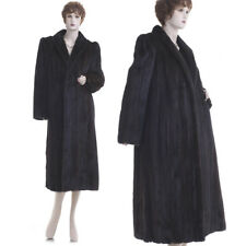 ON SALE! Mint! Forever Fashionable Beauty Black Mahogany Mink Fur F/L Coat
