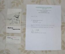 FANTASTIC !!! Original WALT KUHN Ink COA from Estate art Greeting card Christmas