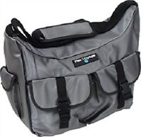 "Pet Voyage Dog Overniter Bag Carries all their gear 16 x13.5 x 5.3/8"" Dark Grey"