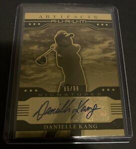 2021 UD Artifacts Golf LPGA Danielle Kang Aurum Gold Autograph AUTO Card 65/99