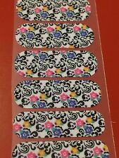 Jamberry Nail Wrap Half Sheet - Flores Escondidas