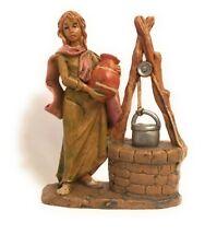 Water Well Market Villager Figurine Euromarchi Presepio Figura Pesebre
