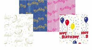 "Birthday Prints Tissue Paper 20 x 30"" 500 x 750mm 18gsm"