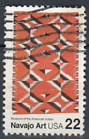 USA Briefmarke gestempelt 22c Navajo Art Museum of the American Indian / 946
