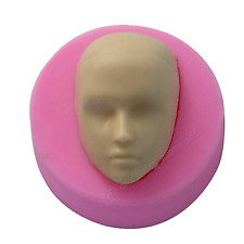 Boy's Face Silicone Cake Topper Mould - Ideal for Chocolate, Fondant, etc.