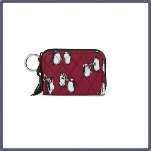 NWT Vera Bradley Petite Mini Zip Around Wallet in Playful Penguins Cabarnet