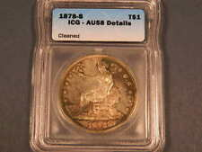 1878-S Trade Silver Dollar, ICG AU Details, High End Coin, Toned w/ PL Surfaces