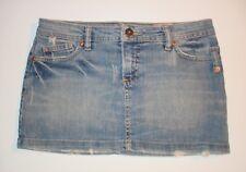 Womens Blue VOLCOM JEANS Denim Mini Skirt ~ Size 3   Small S ~ Casual