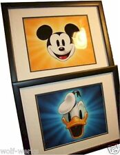(2) Disney Donald Mickey Title Card images NEW Frame vintage style Photographs