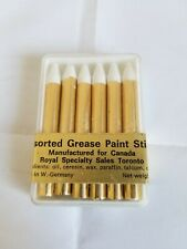 Lot of 11 packs Vintage Halloween Stage Carnival Grease Paint Sticks Red White