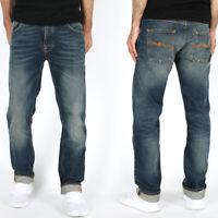 Nudie Herren Regular Straight Fit Jeans | Hank Rey Dark Ropy | UVP*149€