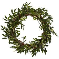"""Nearly Natural 4773 - 20"""" Olive Wreath - Green"""