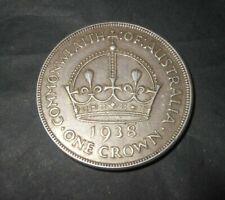 1938 Australian Crowns 92.5% Silver Bullion PreDecimal Coin King George VI