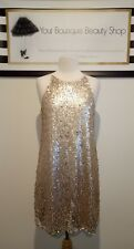 DOTTI DRESS LIGHT PEACH SHORT CASUAL FORMAL SPARKLE WOMEN RACE UNIQUE SUMMER