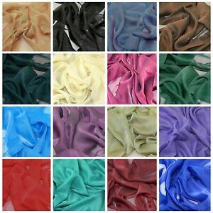 """Chiffon Shot Fabric Cationic Silky Touch Fashion 60"""" Dress, Sarong & Decoration"""